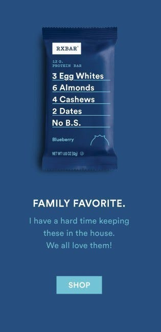Blueberry RXBARs are a Family Favorite