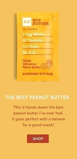Honey Cinnamon Peanut Butter RX Nut Butter