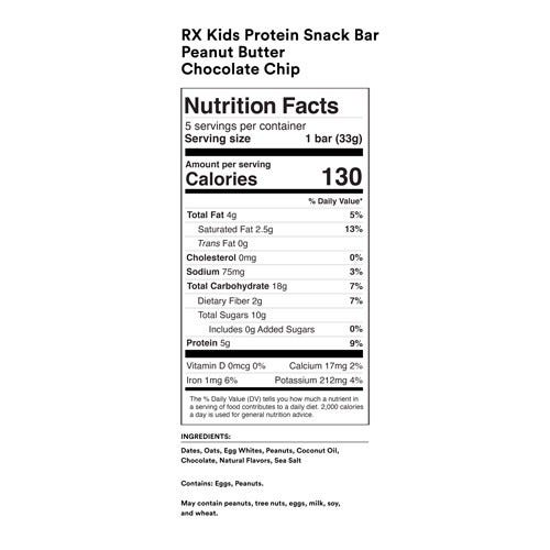 Peanut Butter Chocolate Chip Nutrition Facts
