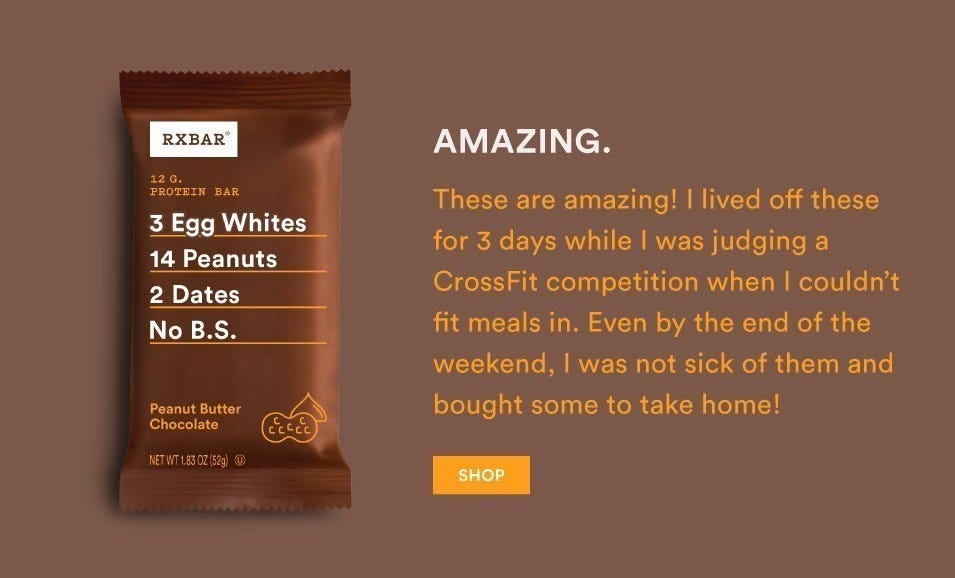 Peanut Butter Chocolate RXBARs are amazing!