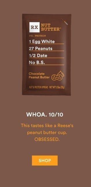 Peanut Butter Chocolate Nut Butter is amazing!