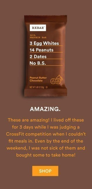 Peanut Butter Chocolate RXBARs are amazing!