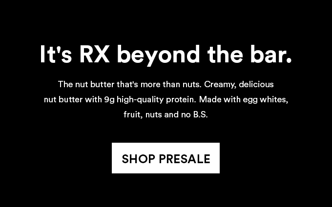 Introducing RX Nut Butter coming in May