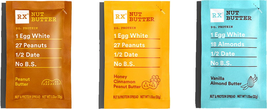 RX Nut Butter Flavors