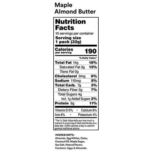 Maple Almond Butter Nutritional Facts