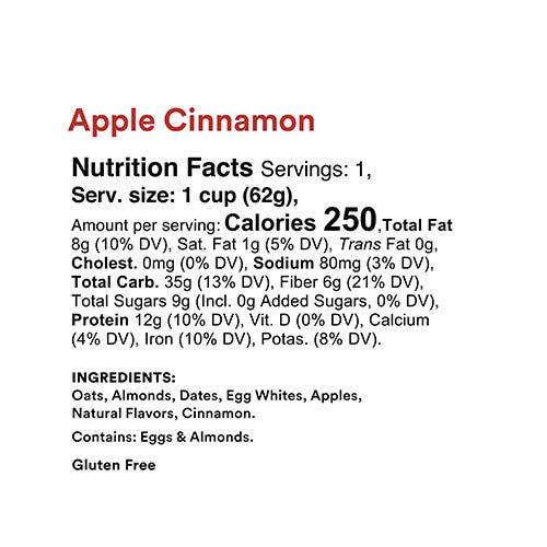 Apple Cinnamon Oats Nutrition Facts